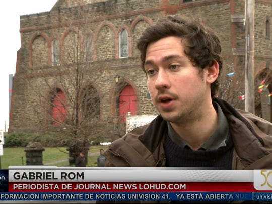 Journal News reporter Gabriel Rom talks with Univision's