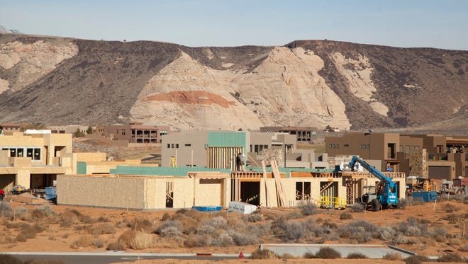 Construction continues in The Ledges near Winchester Hills Thursday, Dec. 17, 2015. Current residents express concern over units in construction slated as short-term rentals.