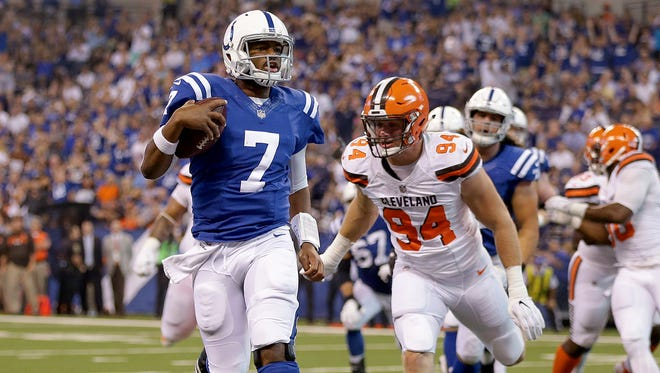 """Quarterback Jacoby Brissett will lead the Colts into a """"Sunday Night Football"""" game against the Seattle Seahawks — a game that may or may not be available to WTHR viewers who subscribe to DirecTV or U-verse."""