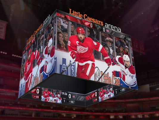 Little Caesars Arena Centerhung Scoreboard System