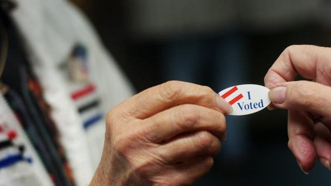 """There will be no """"I voted"""" stickers at the polls in Buncombe County during the 2020 General Election. It's one of many precautions Buncombe is taking to make voting safer in the time of COVID-19."""