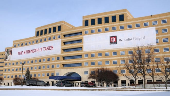 IU Methodist Hospital is operating at about 65 percent of capacity.