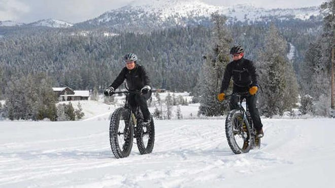 Steve and Kathy Muench of McCall ride the trails at Jug Mountain Ranch near McCall.