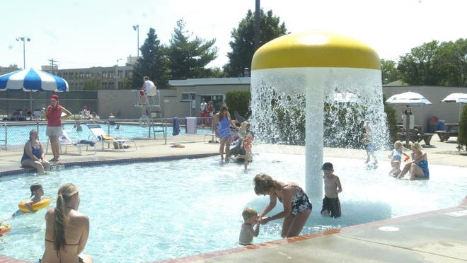 The Donald Copps Municipal Pool offers a 162-foot waterslide, diving boards and smaller zero-depth wading pool for younger children