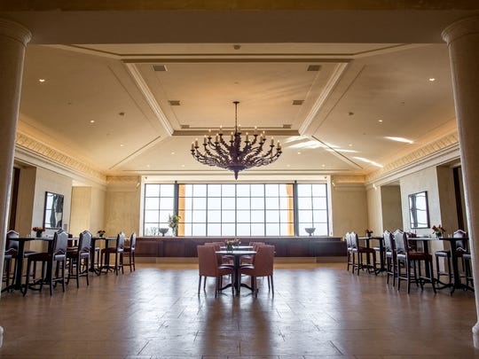 The Domaine Serene main hall welcomes the public to taste from a variety of flights.