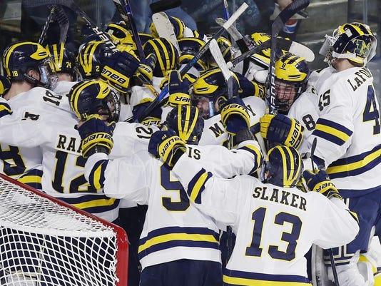 NCAA Michigan Boston University Hockey