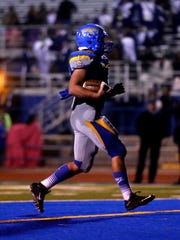 Bloomfield's JD Robinson scores a touchdown during