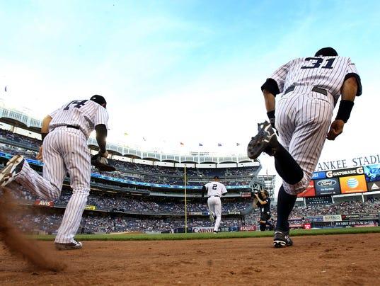 Yankees take field June 20 2014