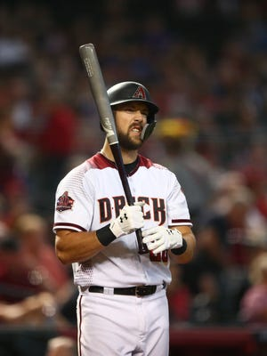 May 16, 2018: Arizona Diamondbacks outfielder Steven Souza Jr. against the Milwaukee Brewers at Chase Field.