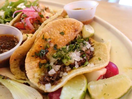 Beef barbacoa taco at Taco Chelo.