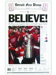 1998, Red Wings win second straight Stanley Cup.