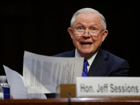 In this Oct. 18, 2017, file photo, Attorney General