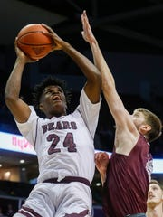 Alize Johnson (24) puts up a shot during the Missouri