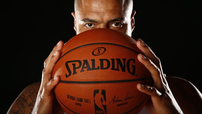 Tyson Chandler of the  Phoenix Suns poses for a photo at media day on Sep. 28, 2015.