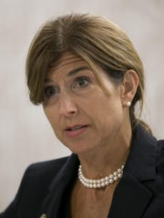 State Sen. Jennifer Beck in an editorial board at the Asbury Park Press on Wednesday.