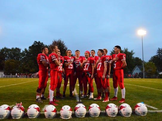 Saginaw Michigan Lutheran Seminary football players