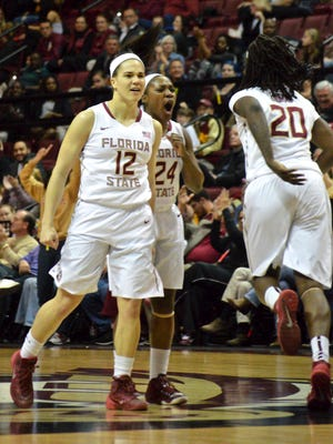 Florida State took down the Wolfpack of North Carolina State 72-52 Feb. 26 at the Donald L. Tucker Center. The Seminoles were dominate from tip to the buzzer and were led by sophomore Brittany Brown's double-double (10 points and 12 boards). It was also senior night for Meghan Conwright and Lauren Coleman, who each hit a three in the contest.