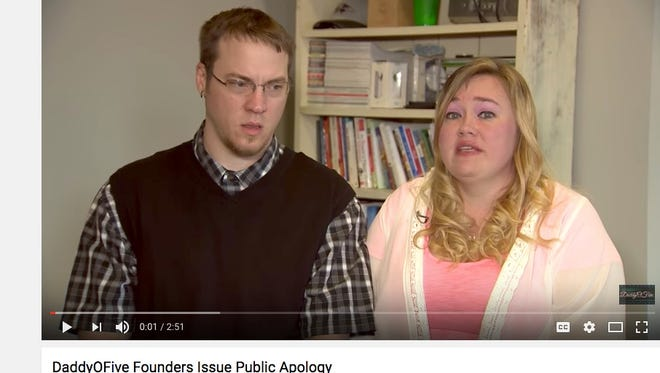 Mike and Heather Martin apologize on their YouTube channel 'DaddyOFive.'