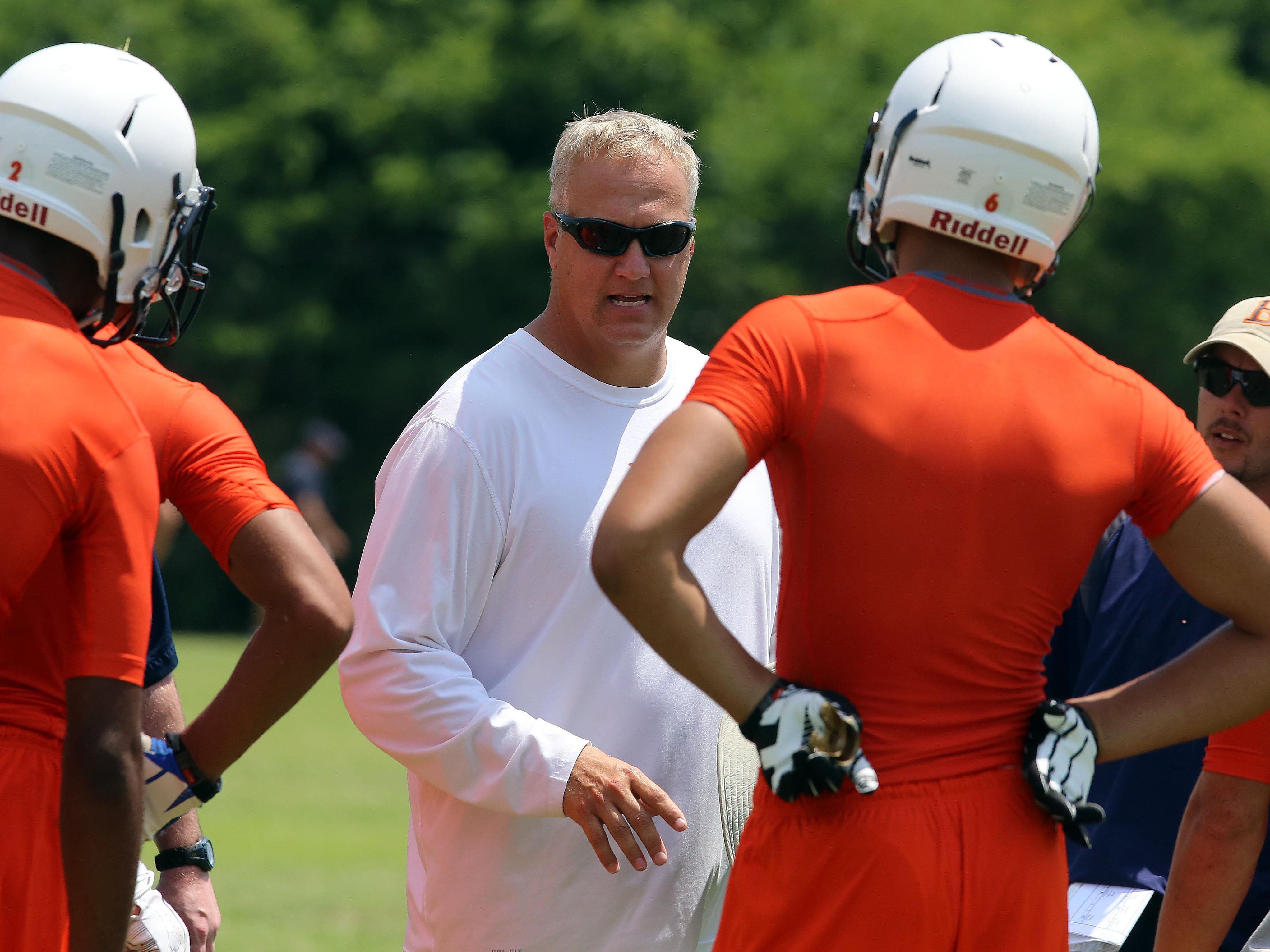 Blackman football coach David Watson and the Blaze begin workouts Monday.