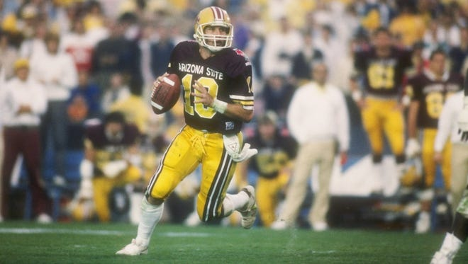 Quarterback Jeff Van Raaphorst was Player of the Game in the 1987 Rose Bowl, a 22-15 Arizona State win over Michigan.