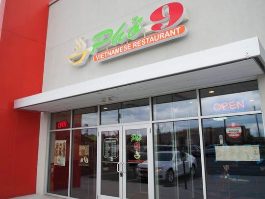 Exterior of Pho 9 Vietnamese Restaurant in Cherry Hill.