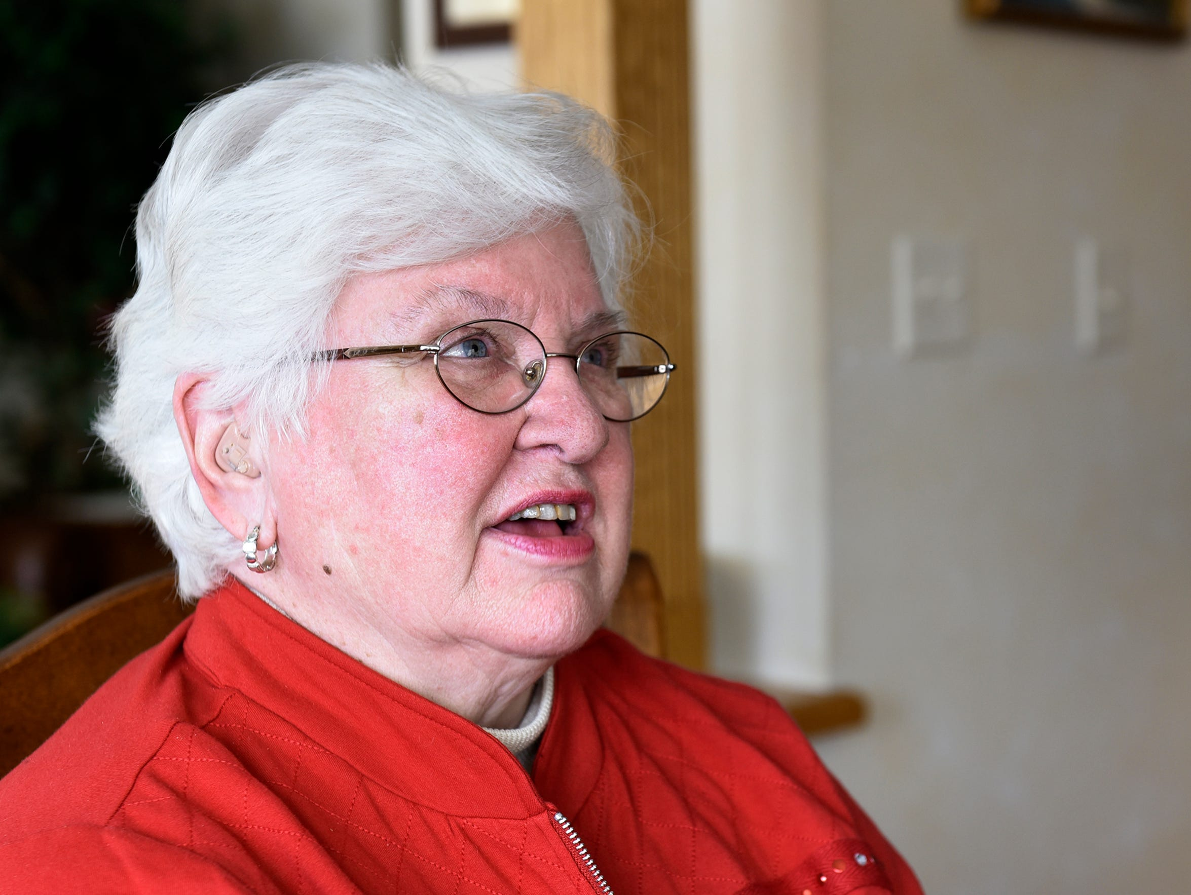 Lois Klinefelter talks about her son Brian during an