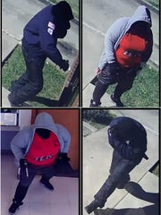 Suspects in the robbery of the Epps bank.