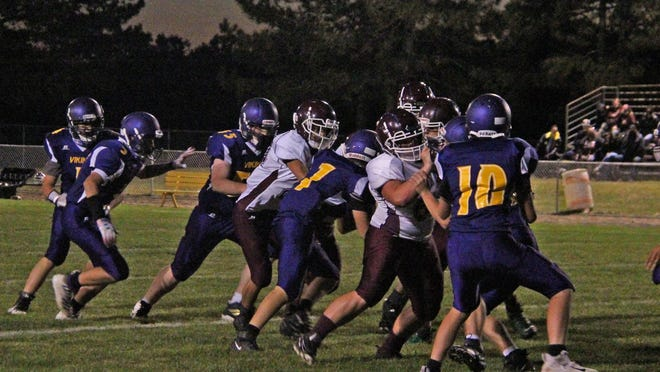 The Union City JV Chargers and the Bronson JV VIkings battled in Big 8 football Thursday night.