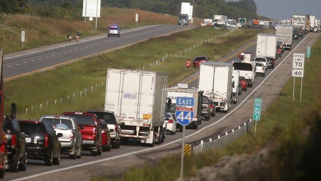 Traffic on Interstate-44 near Springfield.