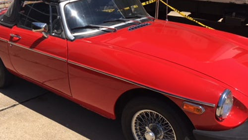 A 1997 MGB convertible donated to the Habitat for Humanity ReStore.