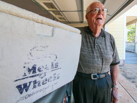 Storyteller - Clyde Hobbs, 95, World War II vet and 30 years volunteer with Meals on Wheels.