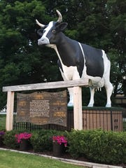 The name, 'Antoinette,' was chosen for the restaurant after the large 20-foot-tall Holstein cow that was erected in 1977 for Plymouth's centennial celebration to honor the robust dairy industry in the area.