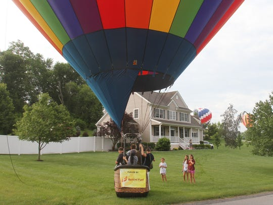Hot-air balloons take part in the Hudson Valley Balloon