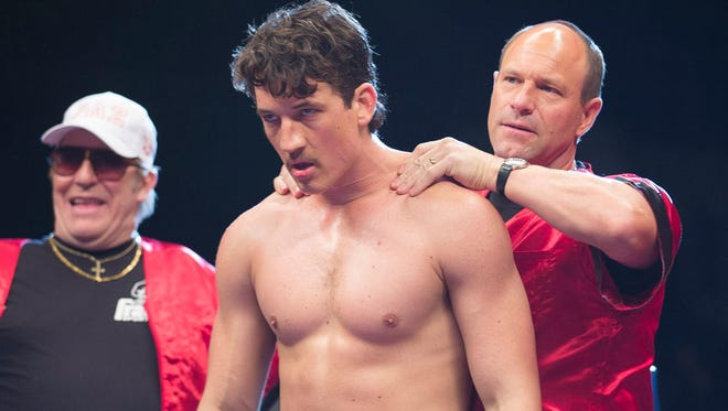 """Aaron Eckhart, Ciaran Hinds and Miles Teller in """"Bleed for This."""" The movie is playing at Regal West Manchester Stadium 13, Frank Theatres Queensgate Stadium 13 and R/C Hanover Movies."""