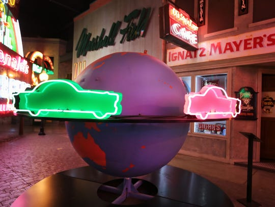 The Spinning Globe, a feature at Earl Sheib's automotive