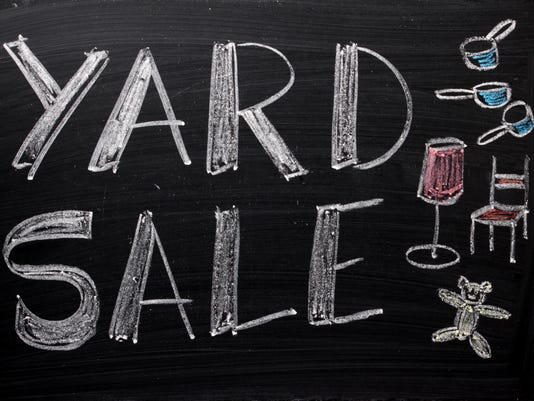 Yard Sale Sign Generic Stock Image