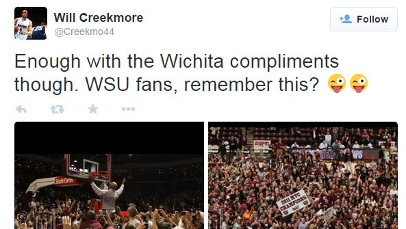 Will Creekmore had some fun after watching Wichita State reach the Sweet 16.