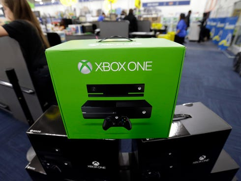 The Xbox One on display at a Best Buy store in Evanston, Ill.