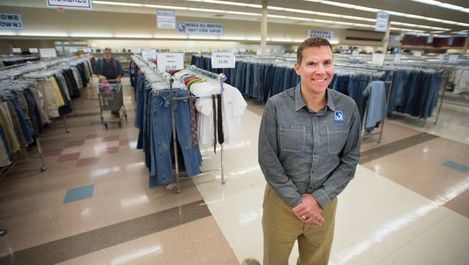 Miracle Hill Ministries CEO Bryce Norton is pictured in one of their thrift stores on S Pleasantburg Dr. on Monday, March 21, 2016.