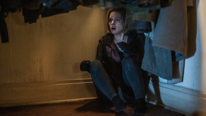 """Rocky (Jane Levy) hides in """"Don't Breathe."""""""