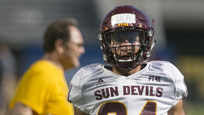 ASU: Chase Lucas, defensive back, 6-0, 178, freshman, Chandler