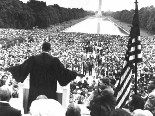 Martin Luther King Jr.'s iconic speech on the National Mall