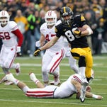 """Iowa receivers """"more at ease"""" with Beathard"""