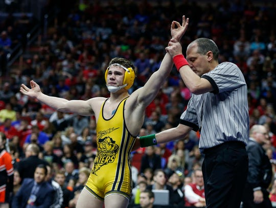 Brock Rathbun won a Division III national title for Wartburg last year. He was a three-time state champ for Center Point-Urbana.