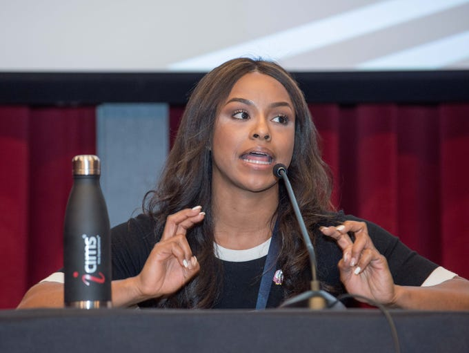 Panelist Amber Brown at the ICIMS Women in Business