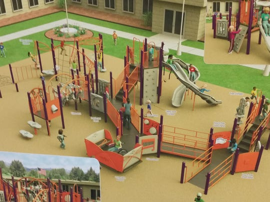 A closer look at a proposed all-inclusive playground at the Kewaunee school.