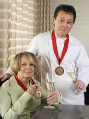 Arizona Republic reporter Barbara Yost and chef Nobuo