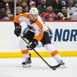 Scott Laughton scored the Flyers' only goal Tuesday night and his new line was the team's best.