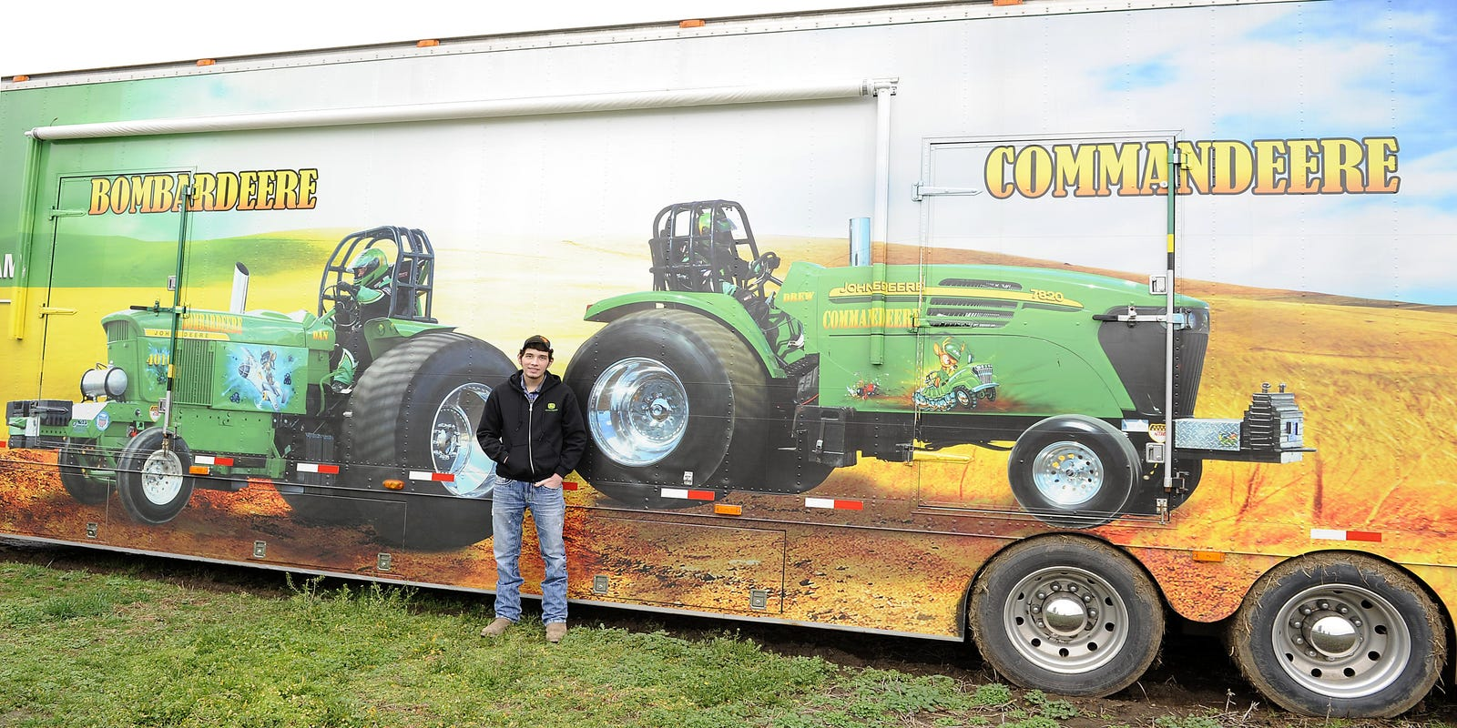 Granville's Parkinson pulls for tractor pulling success