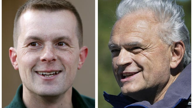 U.S. Rep. Jared Golden, D-Maine, left, and Republican former state Rep. Dale Crafts, right, are competing for Maine's 2nd Congressional District seat in the Nov. 3, 2020, general election.